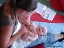 Babymassagekurs Juli 2009